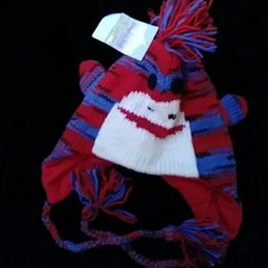 Shangri-La Nook wool stripe monkey hat w redlining